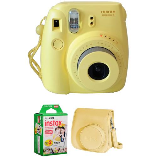 Fujifilm instax mini 8 Instant Film Camera Basic Kit (Yellow)
