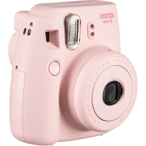 Fujifilm instax mini 8 Instant Film Camera & Rainbow Instant Film Kit (Pink)