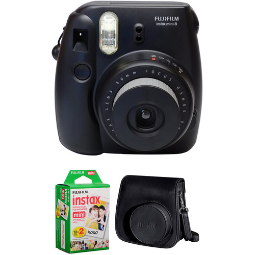 Fujifilm instax mini 8 Instant Film Camera Basic Kit (Black)