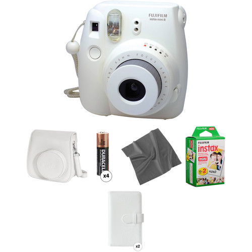 Fujifilm instax mini 8 Instant Film Camera Pro Kit (White)