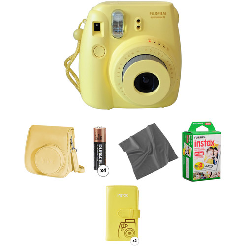 Fujifilm instax mini 8 Instant Film Camera Pro Kit (Yellow)