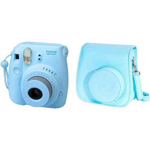 Fujifilm instax mini 8 Instant Film Camera and Groovy Case Kit (Blue)