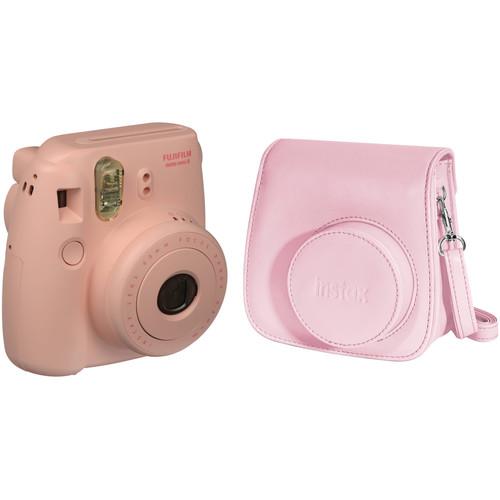 Fujifilm instax mini 8 Instant Film Camera and Groovy Case Kit (Pink)