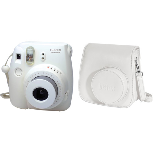 Fujifilm instax mini 8 Instant Film Camera and Groovy Case Kit (White)