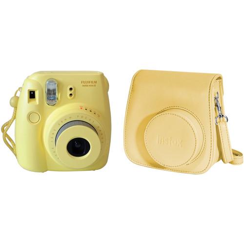 Fujifilm instax mini 8 Instant Film Camera and Groovy Case Kit (Yellow)