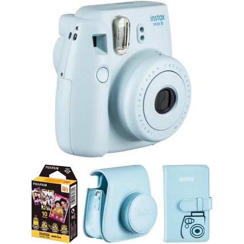 FUJIFILM INSTAX Mini 8 Instant Camera Accessories Kit (Blue)
