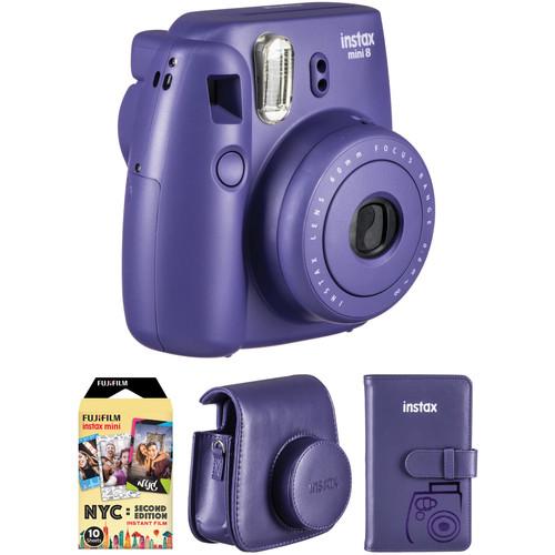 Fujifilm instax mini 8 Instant Camera Accessories Kit (Grape)