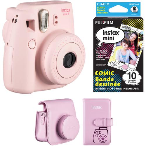 Fujifilm instax mini 8 Instant Camera Accessories Kit (Pink)
