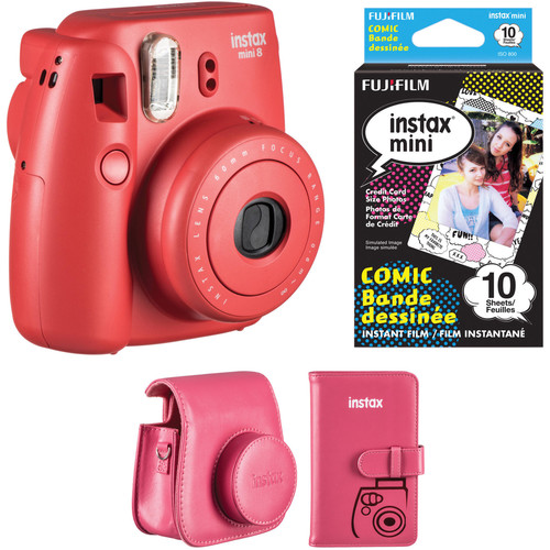 Fujifilm instax mini 8 Instant Camera Accessories Kit (Raspberry)