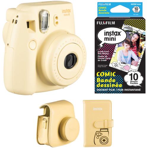 Fujifilm instax mini 8 Instant Camera Accessories Kit (Yellow)