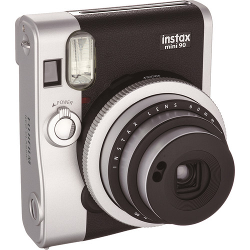 Fujifilm instax mini 90 Neo Classic Instant Film Camera with Twin Pack of Film Kit (Black)