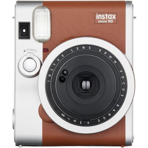 Fujifilm instax mini 90 Neo Classic Instant Film Camera with Twin Pack of Film Kit (Brown)