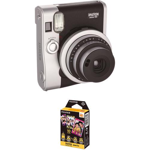 FUJIFILM INSTAX Mini 90 Neo Classic Instant Film Camera with Airmail Film Kit (Black)