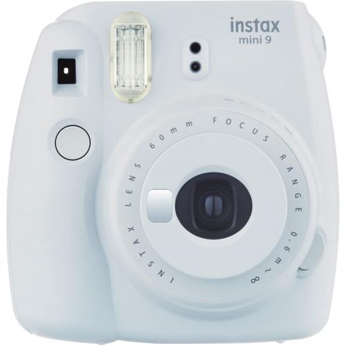 Fujifilm instax mini 9 Instant Film Camera with Case Kit (Smokey White)