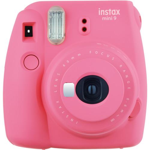 Fujifilm instax mini 9 Instant Film Camera with Instant Film Kit (Flamingo Pink, 60 Exposures)