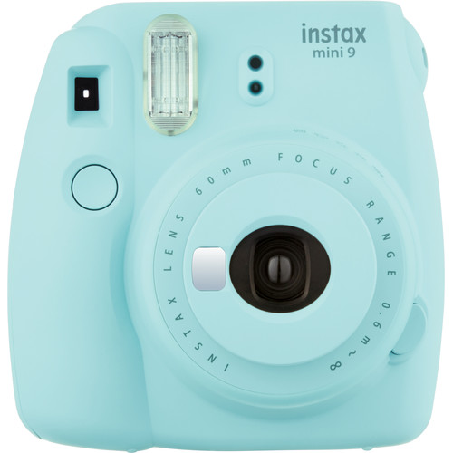 Fujifilm instax mini 9 Instant Film Camera with Instant Film Kit (Ice Blue, 60 Exposures)