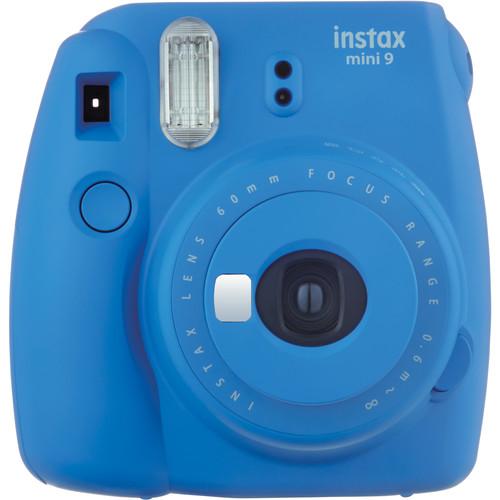 Fujifilm instax mini 9 Instant Film Camera with Case Kit (Cobalt Blue)