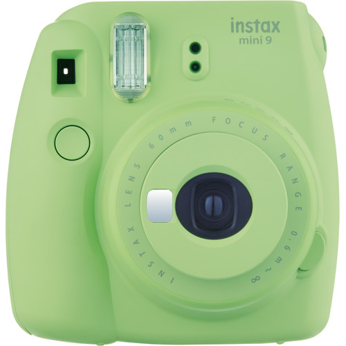 Fujifilm instax mini 9 Instant Film Camera with Rainbow Instant Film Kit (Lime Green, 10 Exposures)