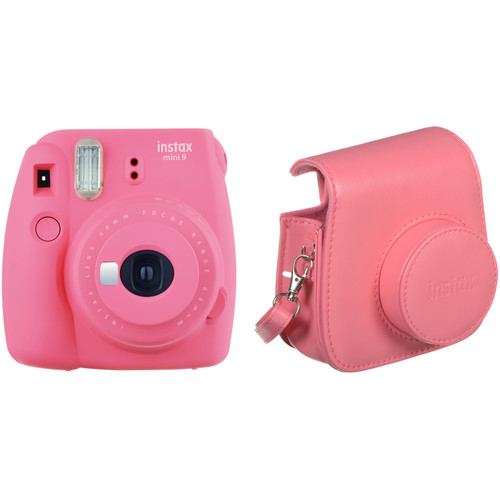 FUJIFILM INSTAX Mini 9 Instant Film Camera with Case Kit (Flamingo Pink)