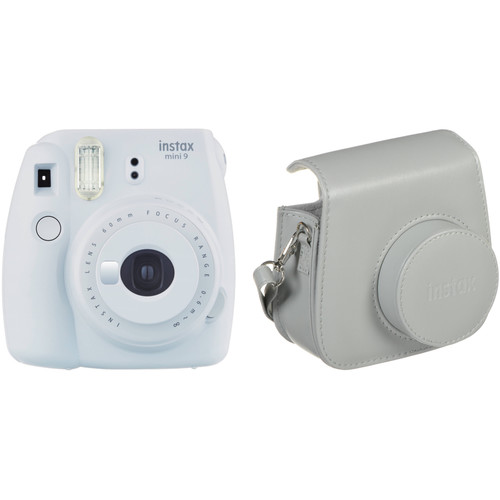 Fujifilm instax mini 9 Instant Film Camera with Case Kit (Smokey White)