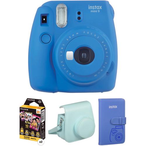 Fujifilm instax mini 9 Instant Film Camera with Film and Accessories Kit (Cobalt Blue)