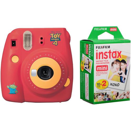 FUJIFILM INSTAX Mini 9 Instant Film Camera with Instant Film Kit (Toy Story 4, 20 Exposures)
