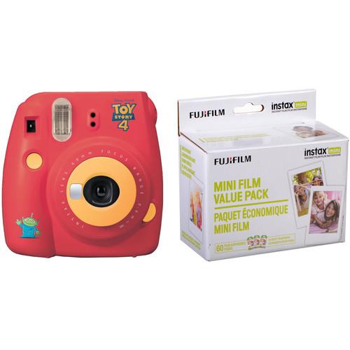 FUJIFILM INSTAX Mini 9 Instant Film Camera with Instant Film Kit (Toy Story 4, 60 Exposures)