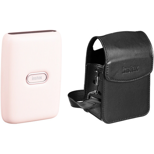 FUJIFILM INSTAX Mini Link Smartphone Printer (Dusky Pink) with Carry Pouch