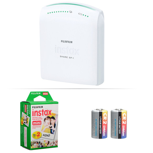 Fujifilm instax SHARE Smartphone Printer with Film and Batteries Kit