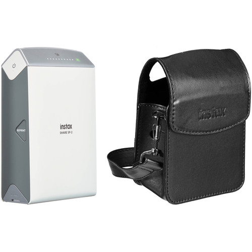 Fujifilm instax SHARE Smartphone Printer SP-2 with Carry Pouch Kit (Silver)