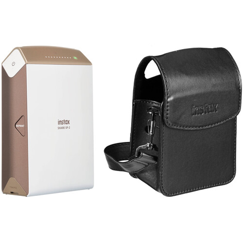 Fujifilm instax SHARE Smartphone Printer SP-2 with Carry Pouch Kit (Gold)