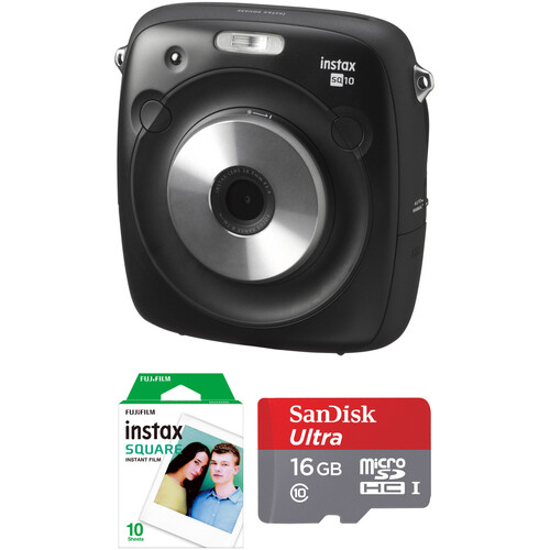 Fujifilm instax SQUARE SQ10 Hybrid Instant Camera with Instant Film and SD Card Kit