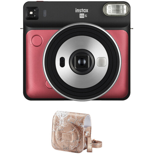 FUJIFILM INSTAX SQUARE SQ6 Instant Film Camera with Case Kit (Ruby Red)