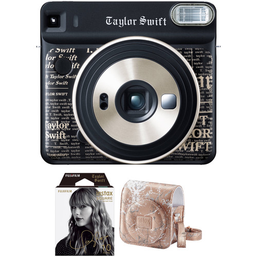 FUJIFILM INSTAX SQUARE SQ6 Taylor Swift Edition Instant Film Camera with Film and Case Kit