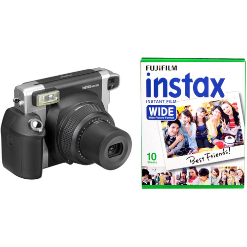 Fujifilm instax WIDE 300 Instant Film Camera with Single Pack of Film Kit