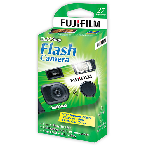 Fujifilm QuickSnap Flash 400 35mm Disposable Camera (4x 27-Exposure Camera Kit)