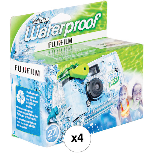 Fujifilm QuickSnap Waterproof 800 35mm Disposable Camera (4x 27-Exposure Camera Kit)