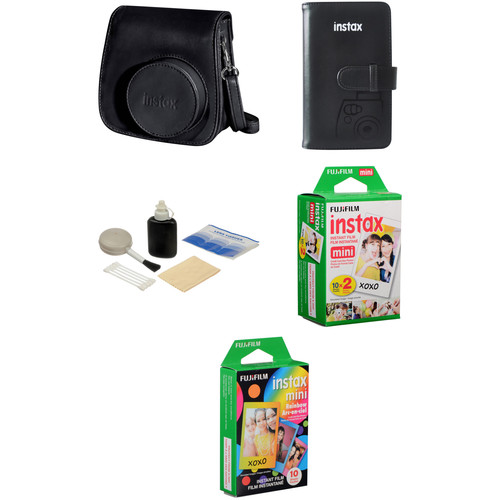 FUJIFILM Starter Kit for INSTAX Mini 8 Instant Film Camera (Black)