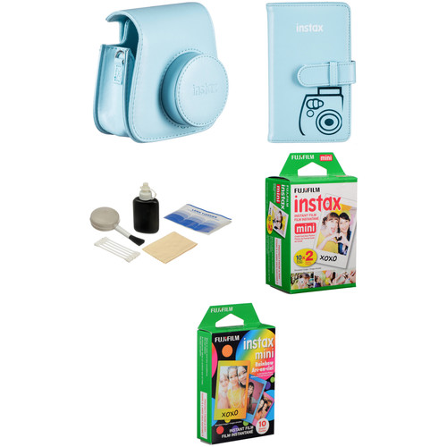 Fujifilm Starter Kit for instax mini 8 Instant Film Camera (Blue)