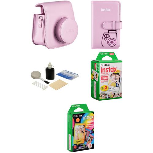 Fujifilm Starter Kit for instax mini 8 Instant Film Camera (Pink)