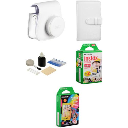 Fujifilm Starter Kit for instax mini 8 Instant Film Camera (White)