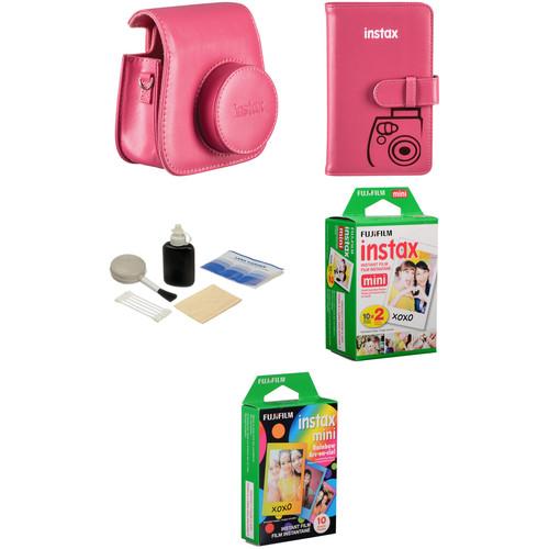 Fujifilm Starter Kit for instax mini 8 Instant Film Camera (Raspberry)