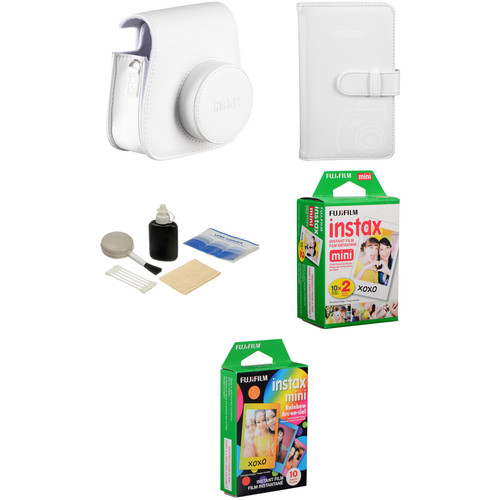 Fujifilm Starter Kit for instax mini 8 Instant Film Camera (White)