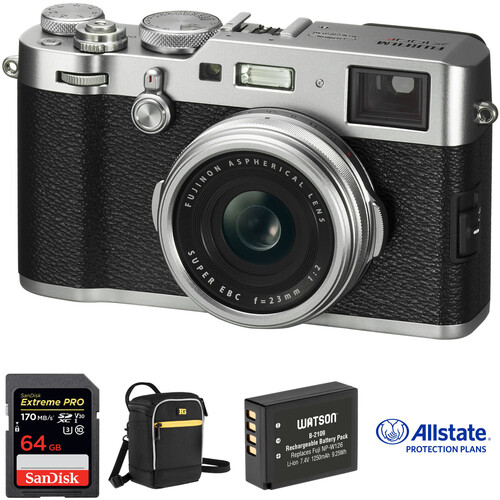 Fujifilm X100F Digital Camera Deluxe Kit (Silver)