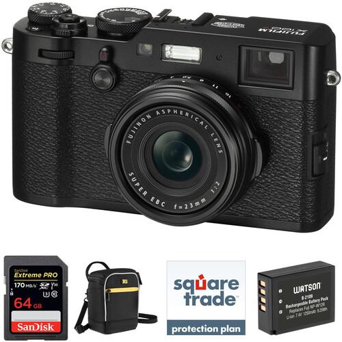FUJIFILM X100F Digital Camera Deluxe Kit (Black)