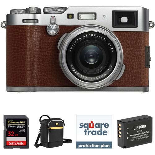 FUJIFILM X100F Digital Camera Deluxe Kit (Brown)