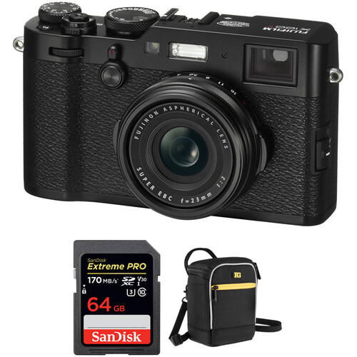 Fujifilm X100F Digital Cameras with Free Accessory Kit (Black)
