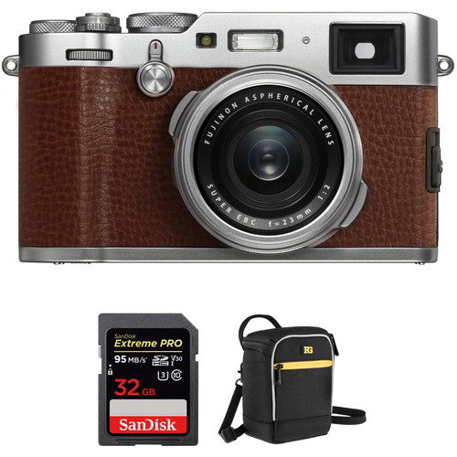 FUJIFILM X100F Digital Cameras with Free Accessory Kit (Brown)