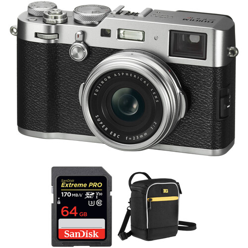 FUJIFILM X100F Digital Cameras with Free Accessory Kit (Silver)