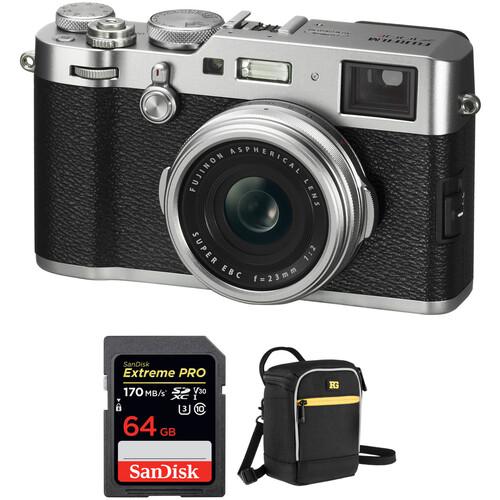 FUJIFILM X100F Digital Camera with Free Accessory Kit (Silver)